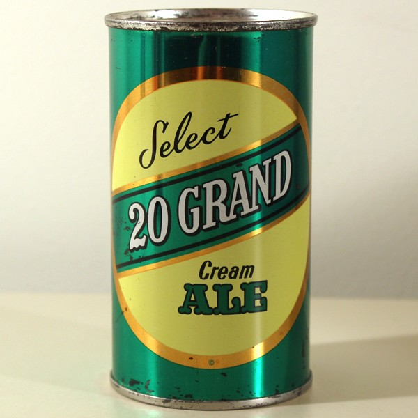 20 Grand Select Cream Ale 142-02 Beer
