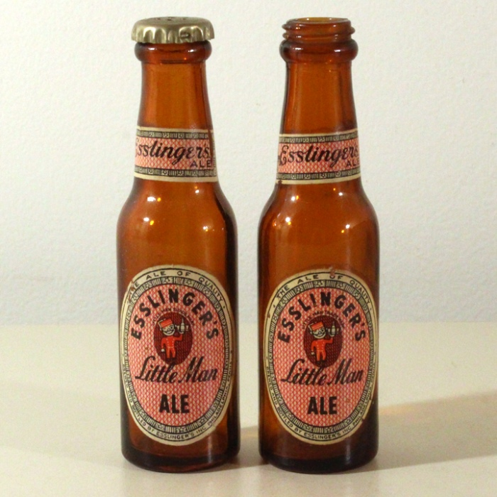 Esslinger Little Man Ale Set of 2 Mini Bottles Beer