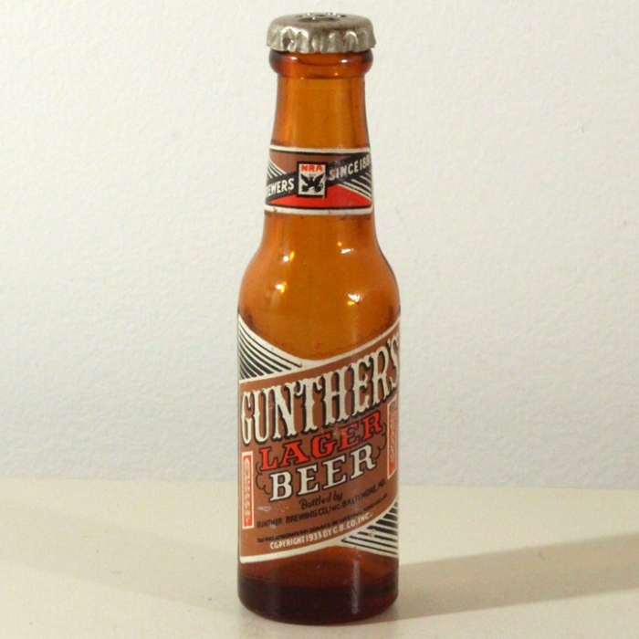 Gunther's Lager Beer Mini Bottle Beer
