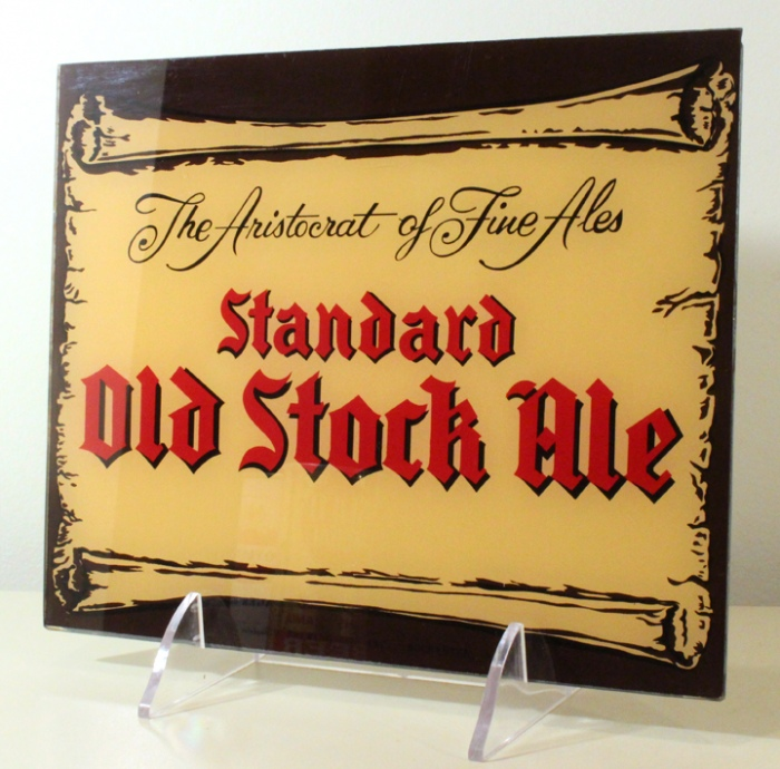 Standard Old Stock Ale Reverse-Painted-Glass Sign Beer