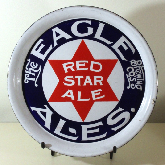 Eagle Brewing Co.'s Red Star Ale Porcelain Tray Beer