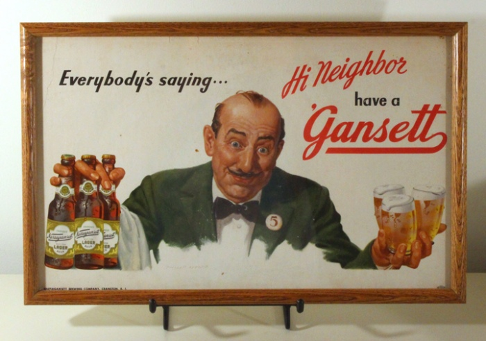 Narragansett Lager - Waiter with a Mustache Beer