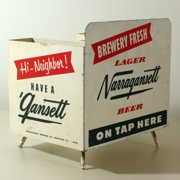 Narragansett Lager Beer Tin Litho Bar Caddy Beer