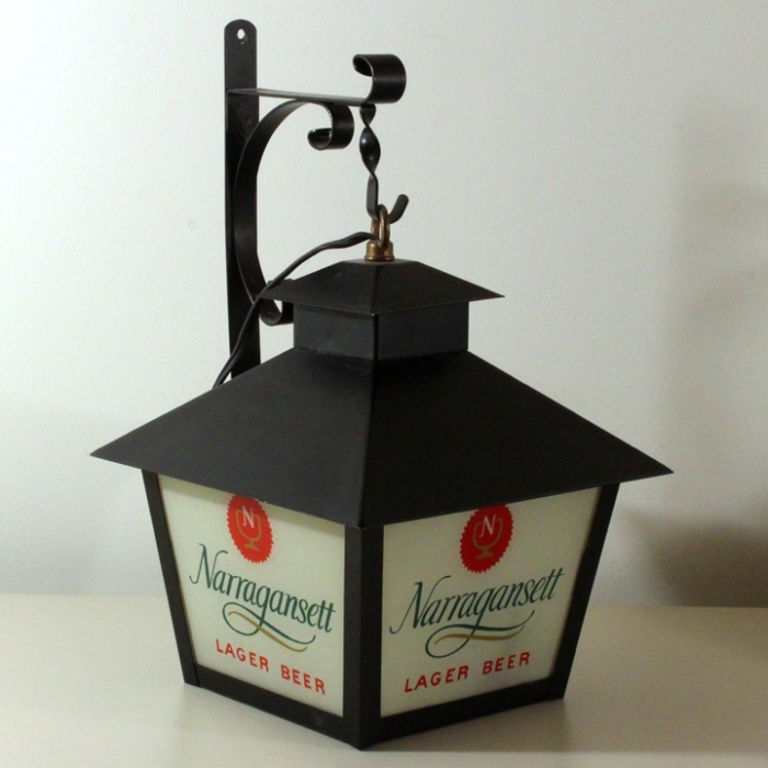 Narragansett Lager Beer Lantern Style Backbar Lamp Beer