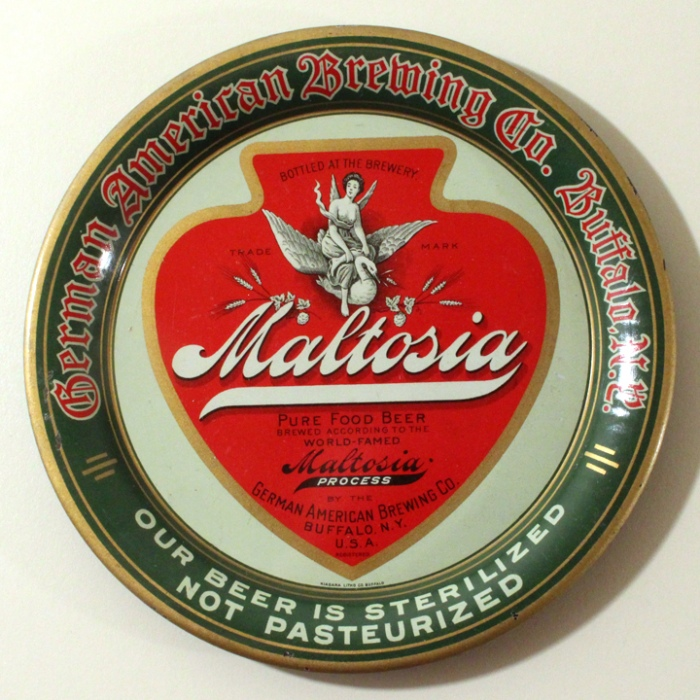 "Maltosia Pure Food Beer 5"" Tip Tray Beer"