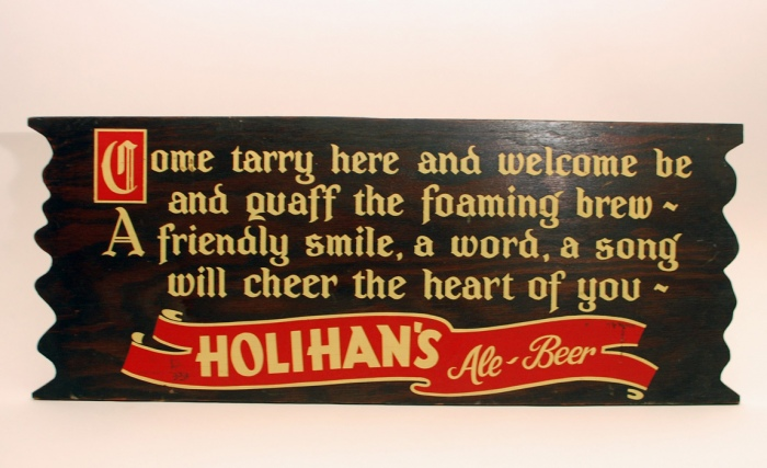Holihans Ale Beer Wood Diecut Beer