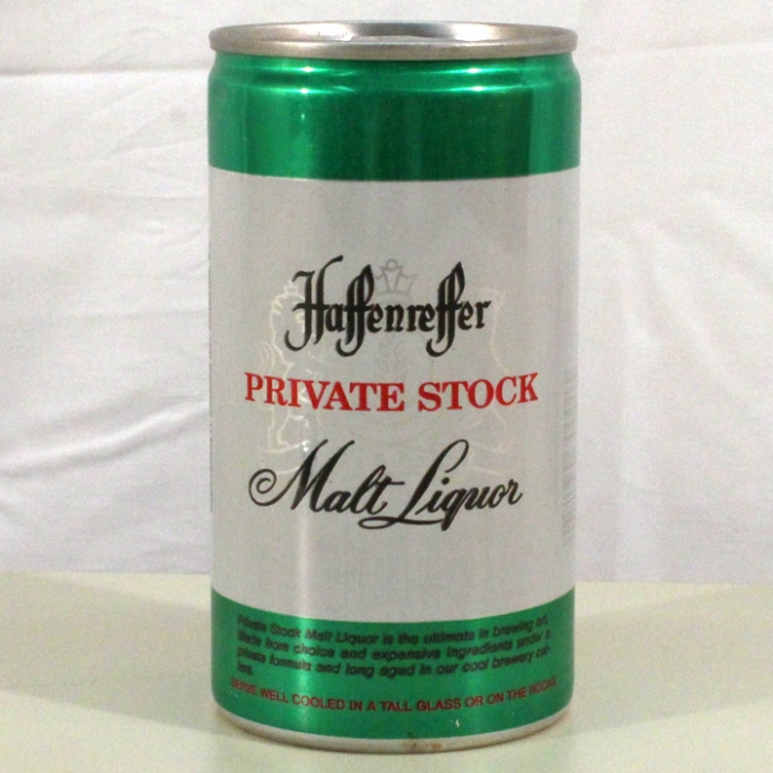 Haffenreffer Private Stock Malt Liquor L072-03 Beer