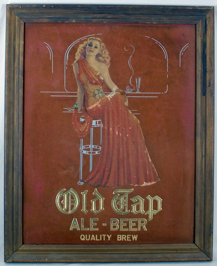 Old Tap Deco Embossed Velvet! Beer