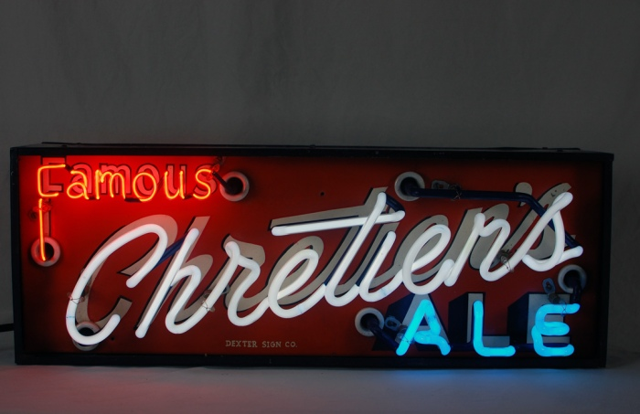 Chretien's Famous Ale Neon Lighted Sign Beer