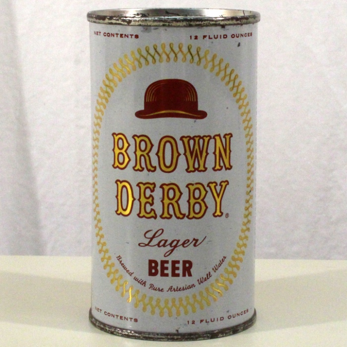 Brown Derby Lager Beer (New Jersey) 042-30 Beer