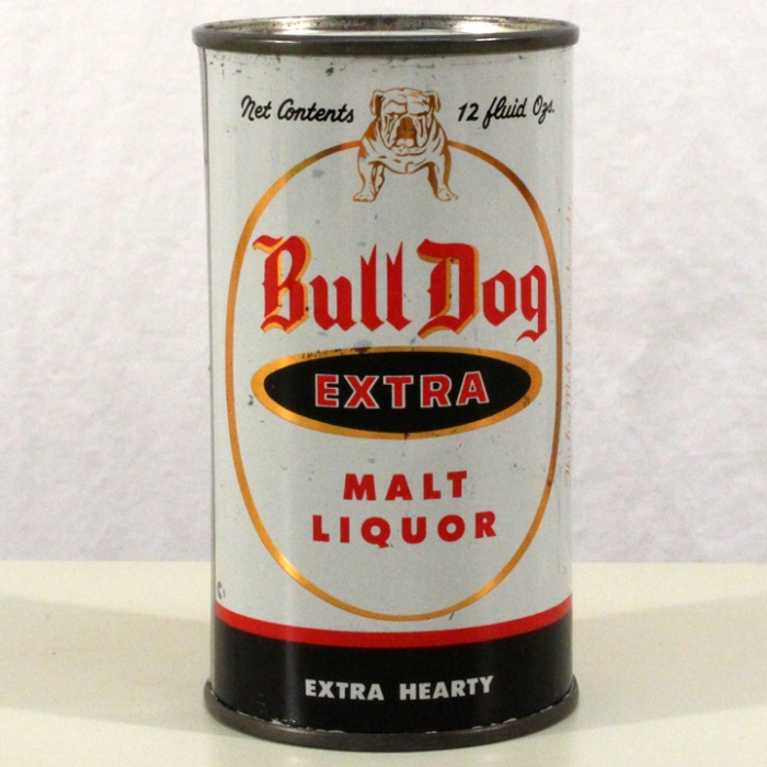 Bull Dog Extra Malt Liquor (Black Writing) 046-01 Beer