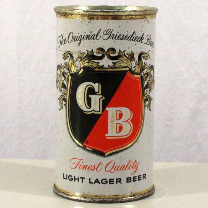 Griesedieck Brothers GB Light Lager Beer 076-34 Beer