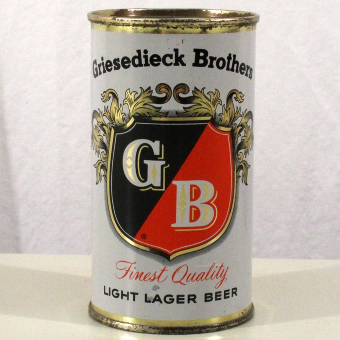 Griesedieck Brothers GB Light Lager Beer 076-22 Beer