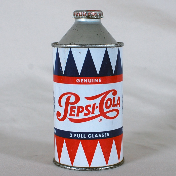 Pepsi-Cola Cone Top Can Beer