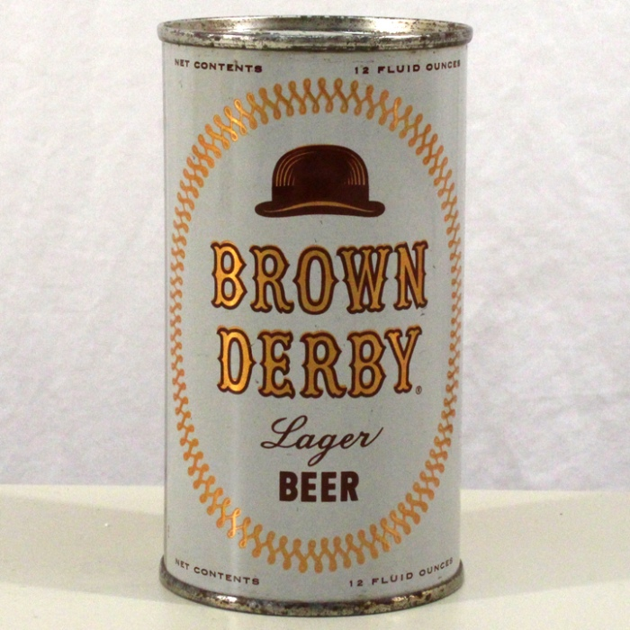 Brown Derby Lager Beer (Chicago) 042-25 Beer