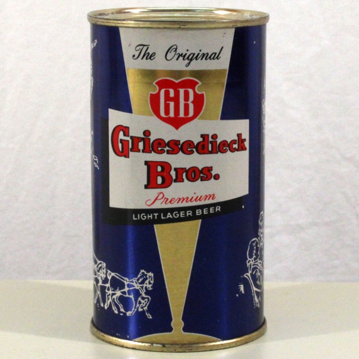 Griesedieck Bros. Premium Lager Beer Blue Set Can 076-16 Beer