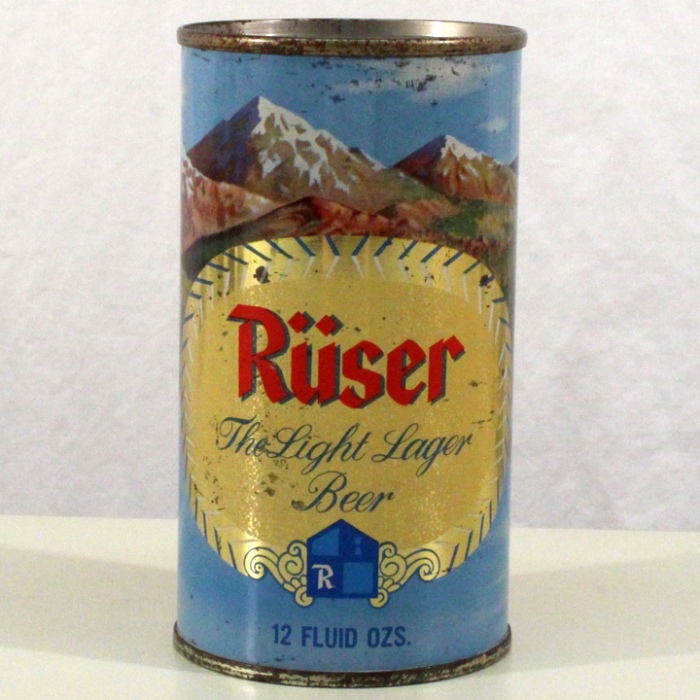 Ruser Light Lager Beer (Grace Bros.) 127-05 Beer