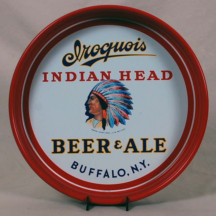 Iroquois Indian Head Beer Ale Tray Beer