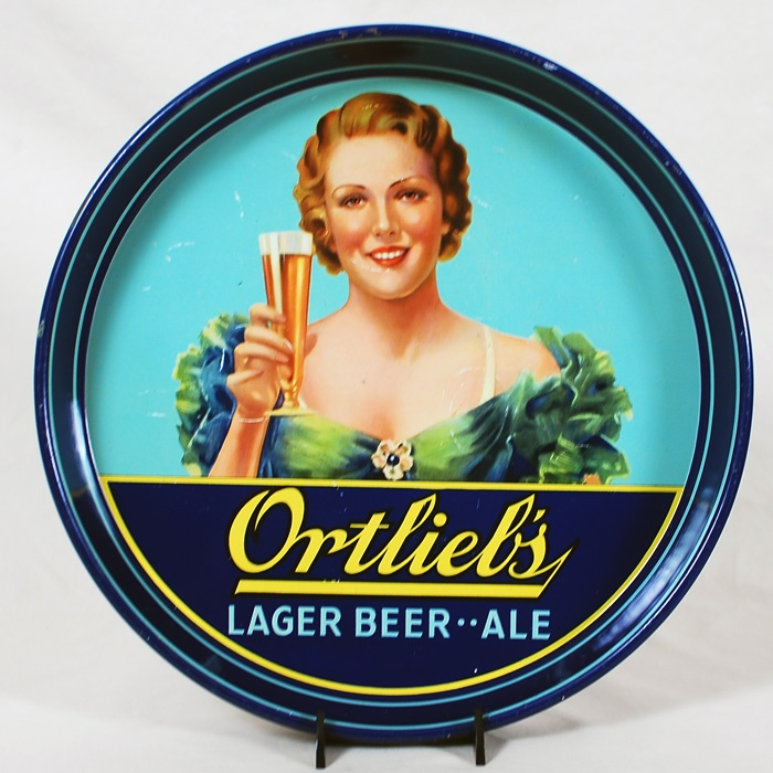 Ortlieb's Lager Beer Ale Tray Beer