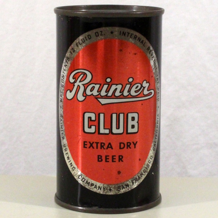 Rainier Club Extra Dry Beer 117-34 Beer