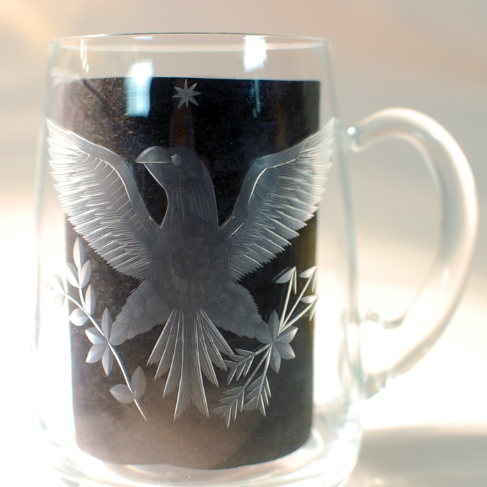 Stroh Eagle Wheelcut Mug Beer