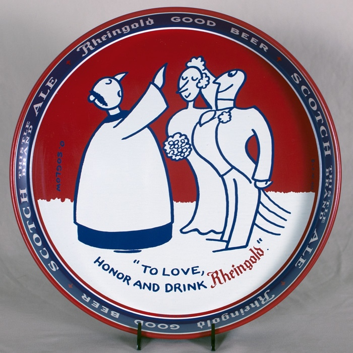 Rheingold Wedding Scene Tray Beer