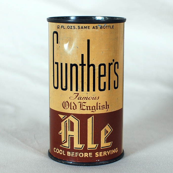 Gunther's Old English Ale Can 369 Beer