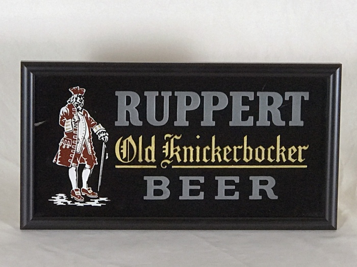 Ruppert Knickerbock Etched RPG Sign Beer