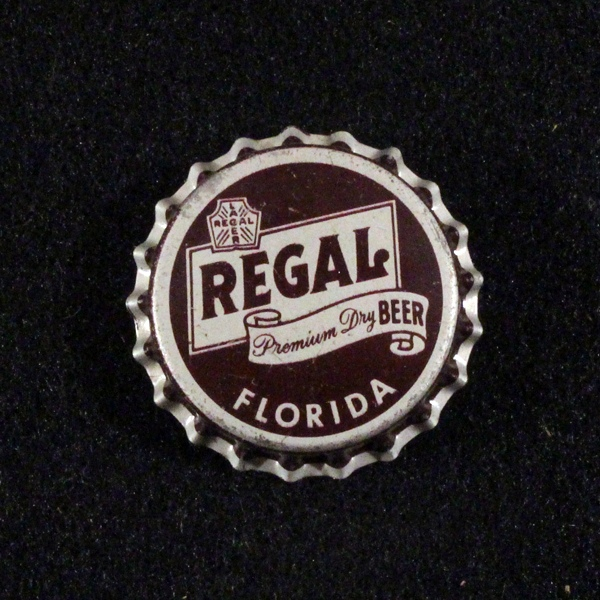 Regal Premium Dry Beer Florida Tax - Curved Text Beer
