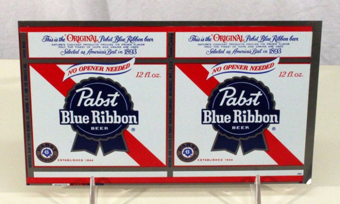 "Pabst Blue Ribbon Beer ""No Opener Needed"" 106-27 (Flat Sheet) Beer"