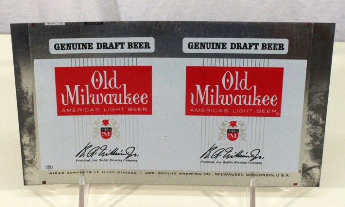 Old Milwaukee Genuine Draft Beer 102-15 (Flat Sheet) Beer