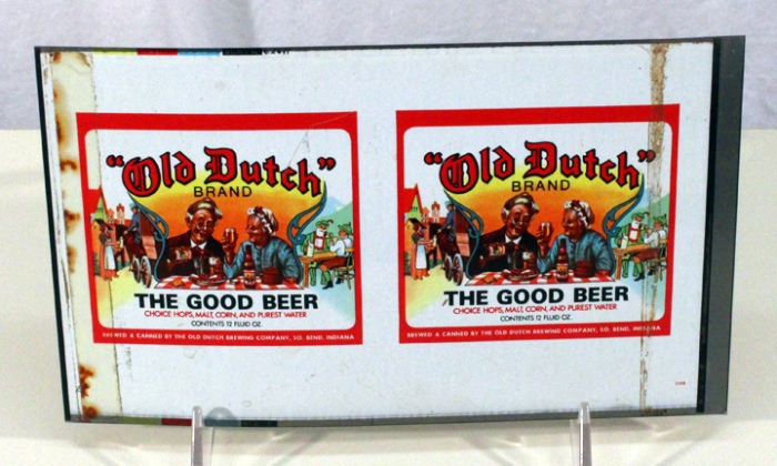 Old Dutch Brand Beer (South Bend) 100-10 (Flat Sheet) Beer