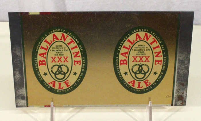 Ballantine XXX Ale 036-20 (Flat Sheet) Beer
