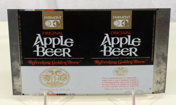 "Apple Beer ""Refreshing Golden Brew"" (Flat Sheet) Beer"