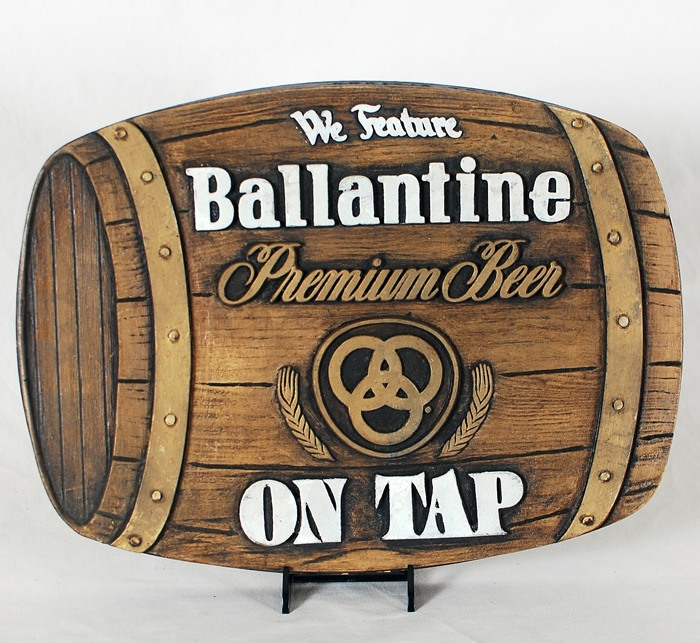 Ballantine On Tap Barrel Sign Beer