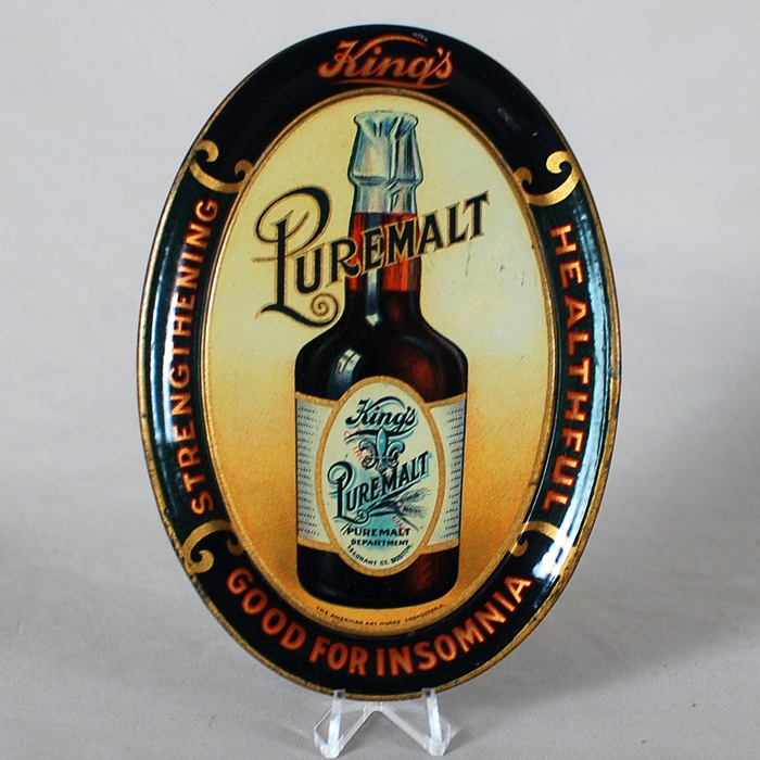 King's Puremalt Tip Tray Beer