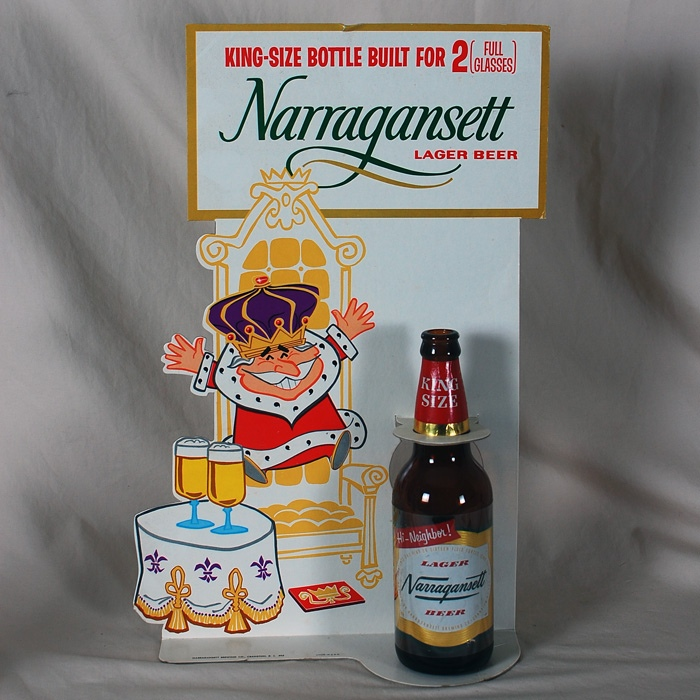 Narragansett Lager King Size Bottle Display Beer
