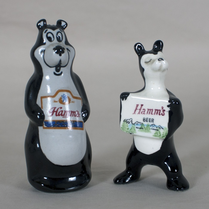 Hamm's Beer Bear Salt Pepper Beer