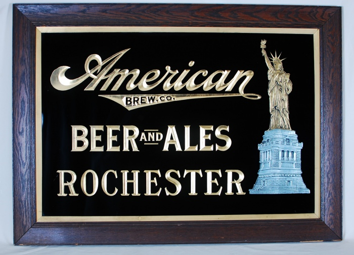 American Brewing Beers Ales Statue Liberty RPG Sign Beer