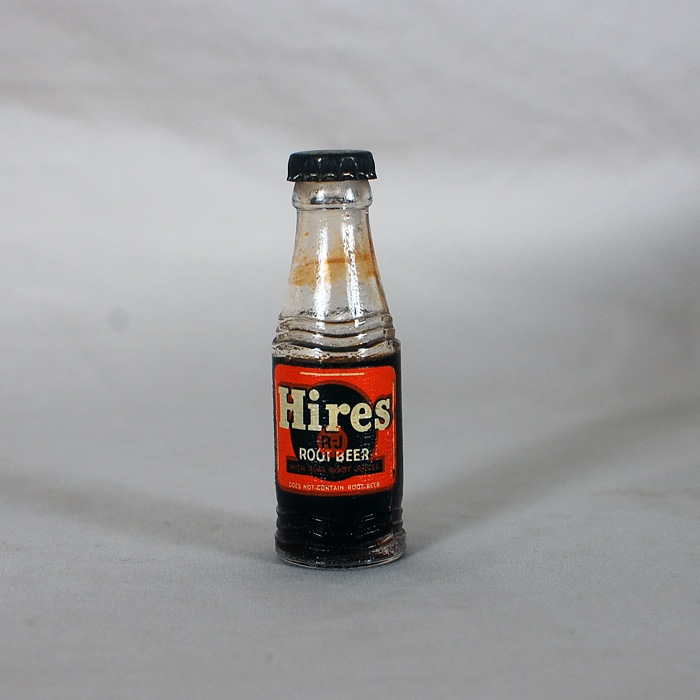 Hires RJ Root Beer Mini Soda Bottle Beer