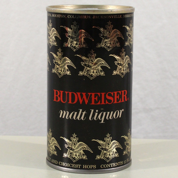 Budweiser Malt Liquor (Foil Label Test Can) 228-11 Beer