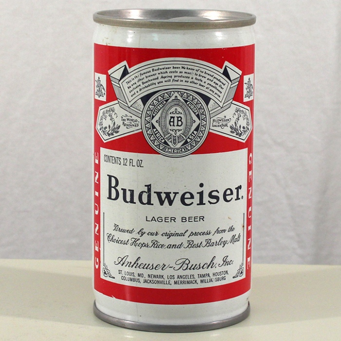 Budweiser Lager Beer (Test Push Tab) 049-25 Beer
