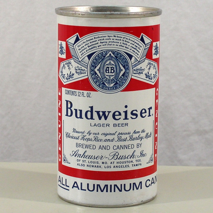 Budweiser Lager Beer (Houston) NL Beer