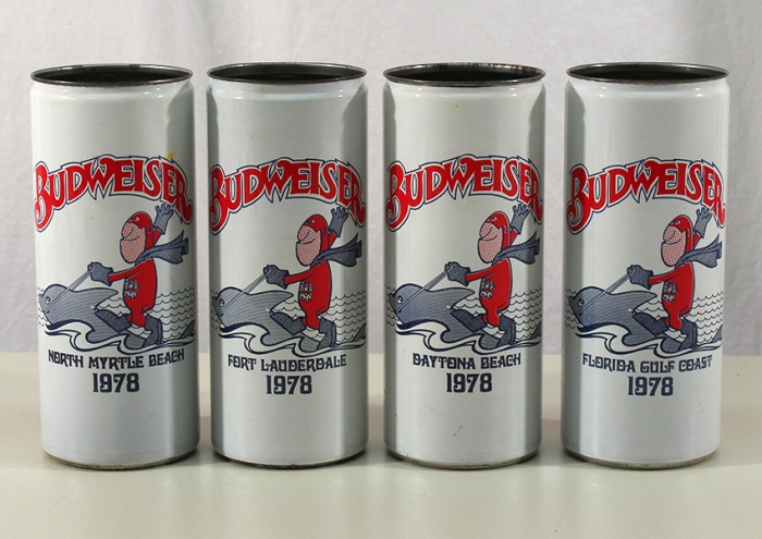 Budweiser 1978 Vacation Spots Set 212-02 to 212-05 Beer