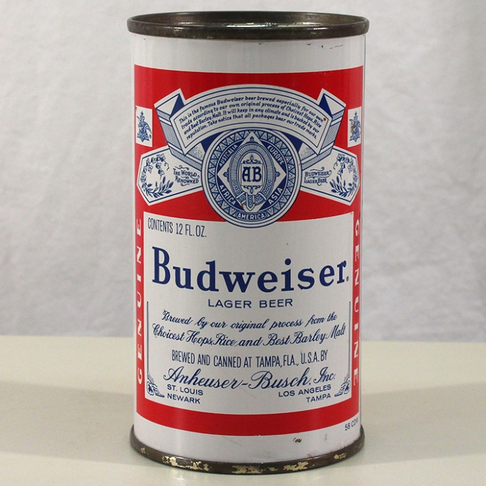 Budweiser Lager Beer (Tampa) (Continental) 043-28 Beer