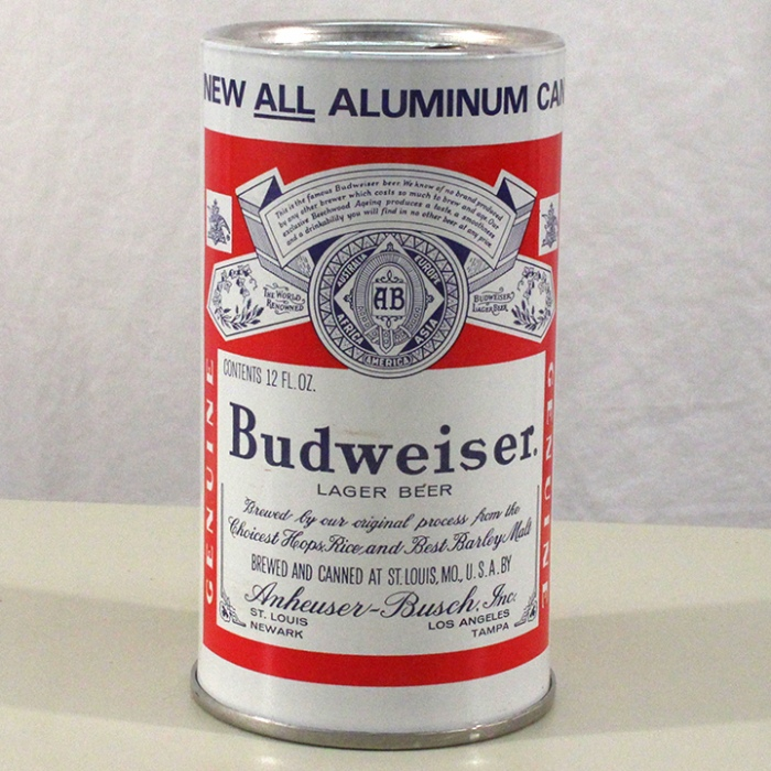 Budweiser Lager Beer (Test Can) 227-10 Beer