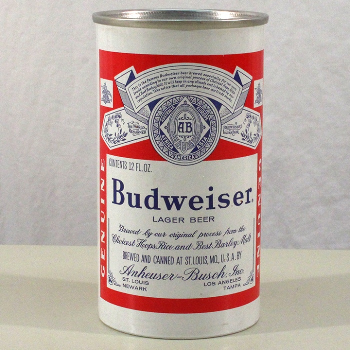 Budweiser Lager Beer (Test Can) NL Beer