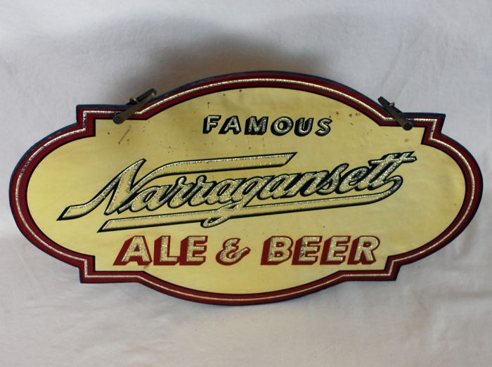 Narragansett Diecut RPG Mirror Sign Beer