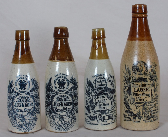 Christian Moerlein Brewing Stoneware Bottles Beer
