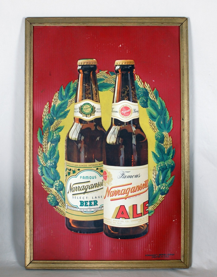Narragansett Ale Beer Diecut Sign Beer